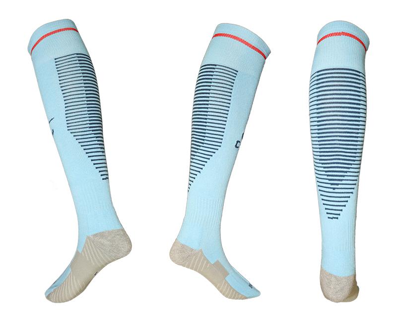2017-18 Manchester City Blue Soccer Socks