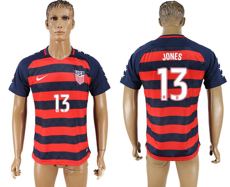 USA 13 JONES 2017 CONCACAF Gold Cup Away Thailand Soccer Jersey