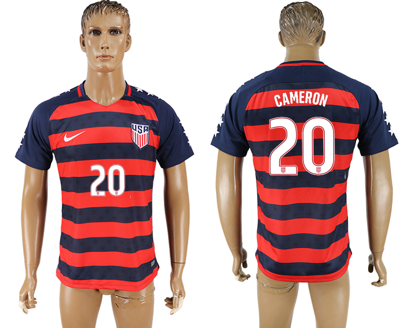USA 20 CAMERON 2017 CONCACAF Gold Cup Away Thailand Soccer Jersey