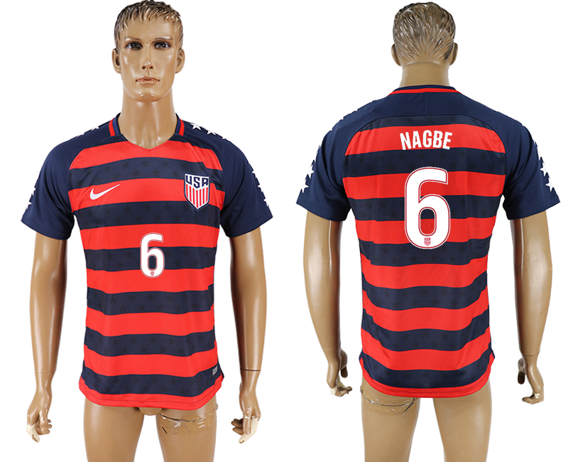 USA 6 NAGBE 2017 CONCACAF Gold Cup Away Thailand Soccer Jersey