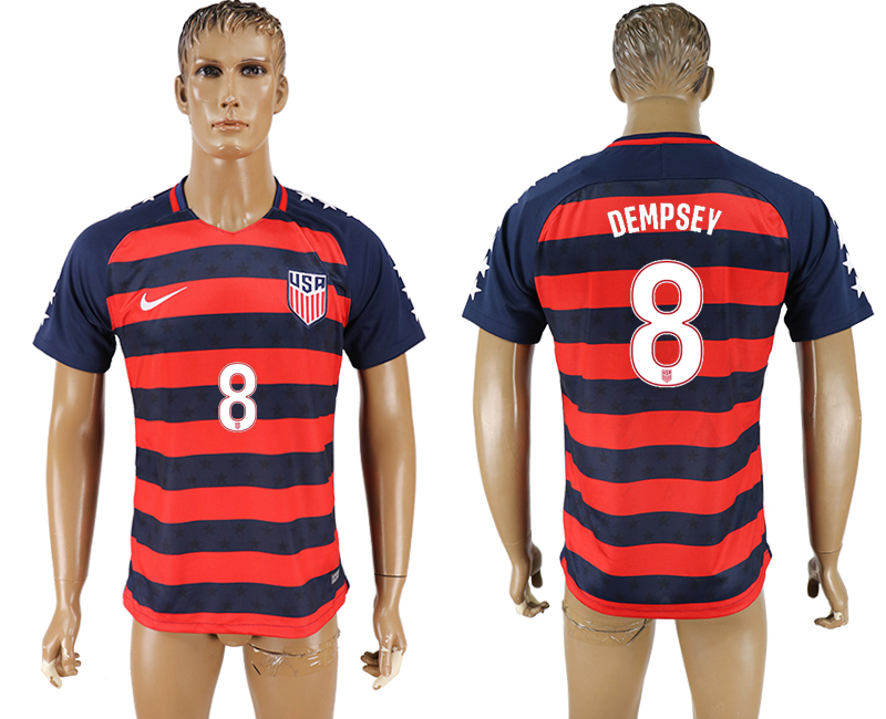 USA 8 DEMPSEY 2017 CONCACAF Gold Cup Away Thailand Soccer Jersey