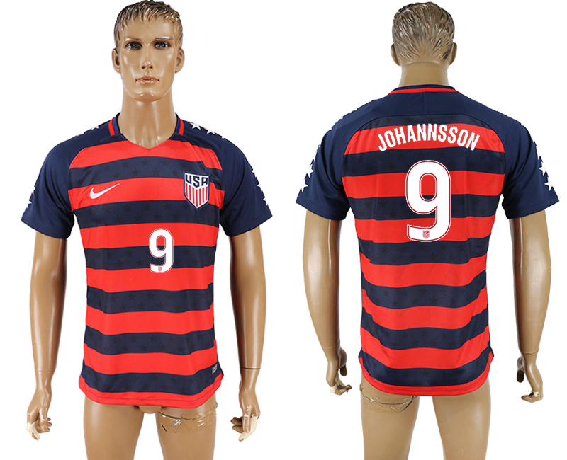 USA 9 JOHANNSSON 2017 CONCACAF Gold Cup Away Thailand Soccer Jersey