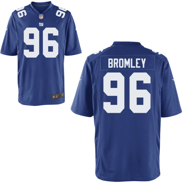 Nike Giants 96 Jay Bromley Blue Youth Game Jersey