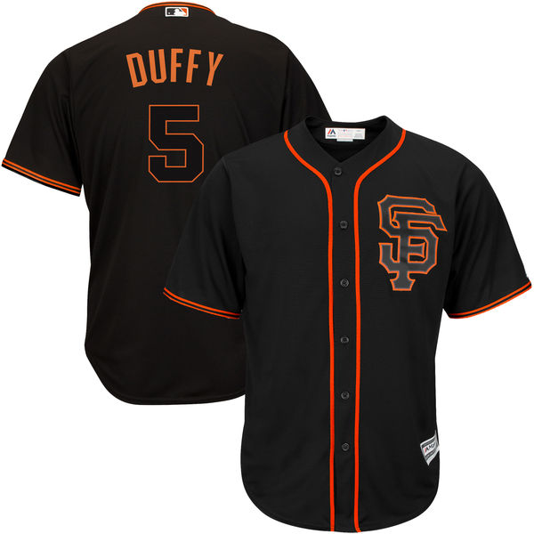 Giants 5 Matt Duffy Black Alternate Cool Base Jersey