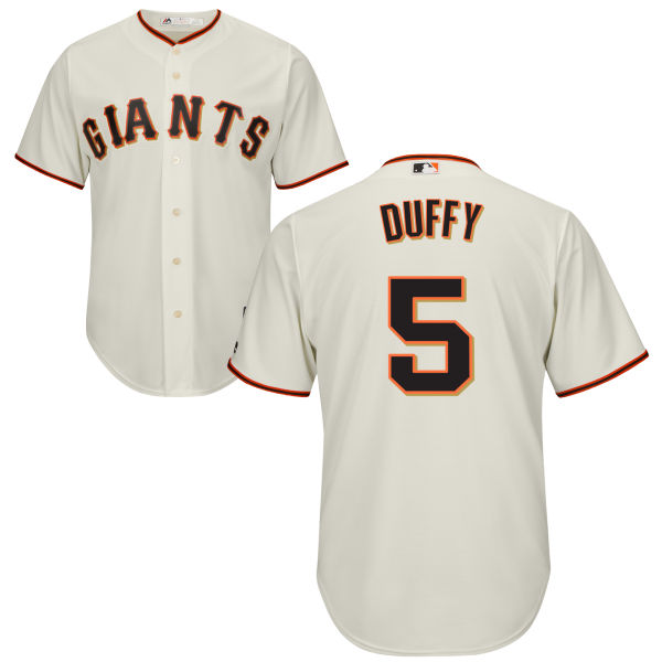 Giants 5 Matt Duffy Cream Cool Base Jersey