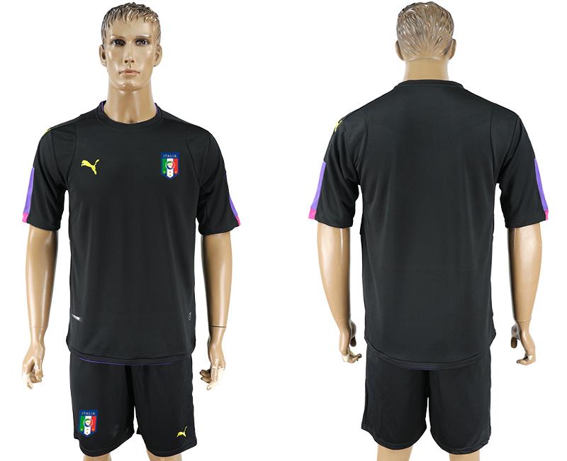 Italy Black UEFA Euro 2016 Goalkeeper Soccer Jersey