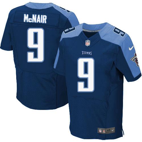 Nike Titans 9 Steve McNair Navy Elite Jersey