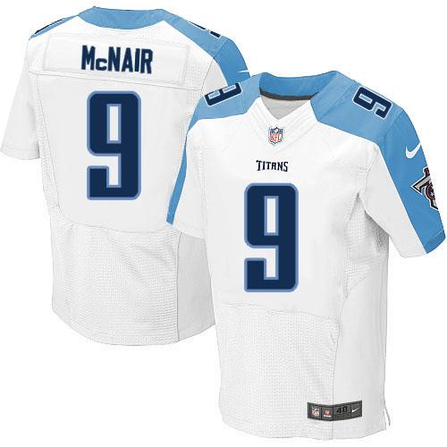 Nike Titans 9 Steve McNair White Elite Jersey