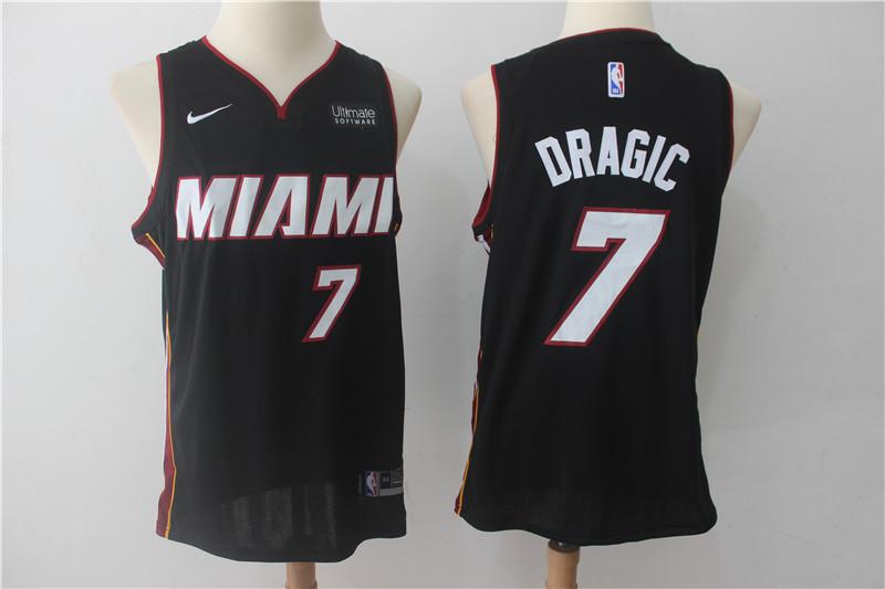 Heat 7 Goran Dragic Black Nike Authentic Jersey