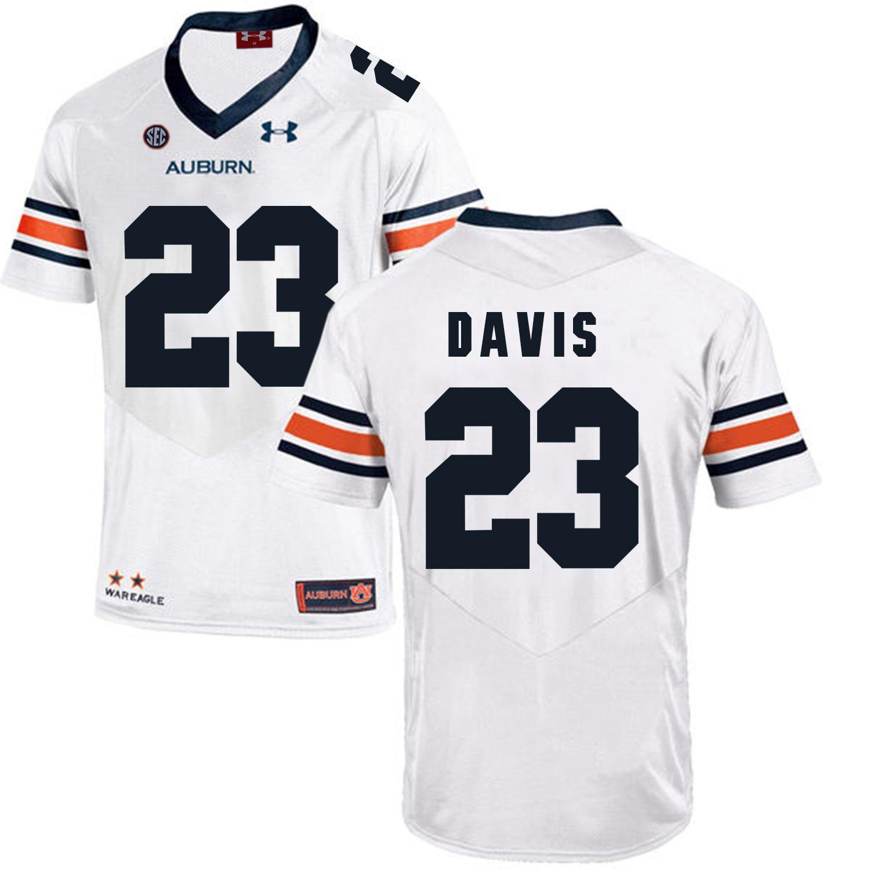 Auburn Tigers 23 Ryan Davis White College Football Jersey