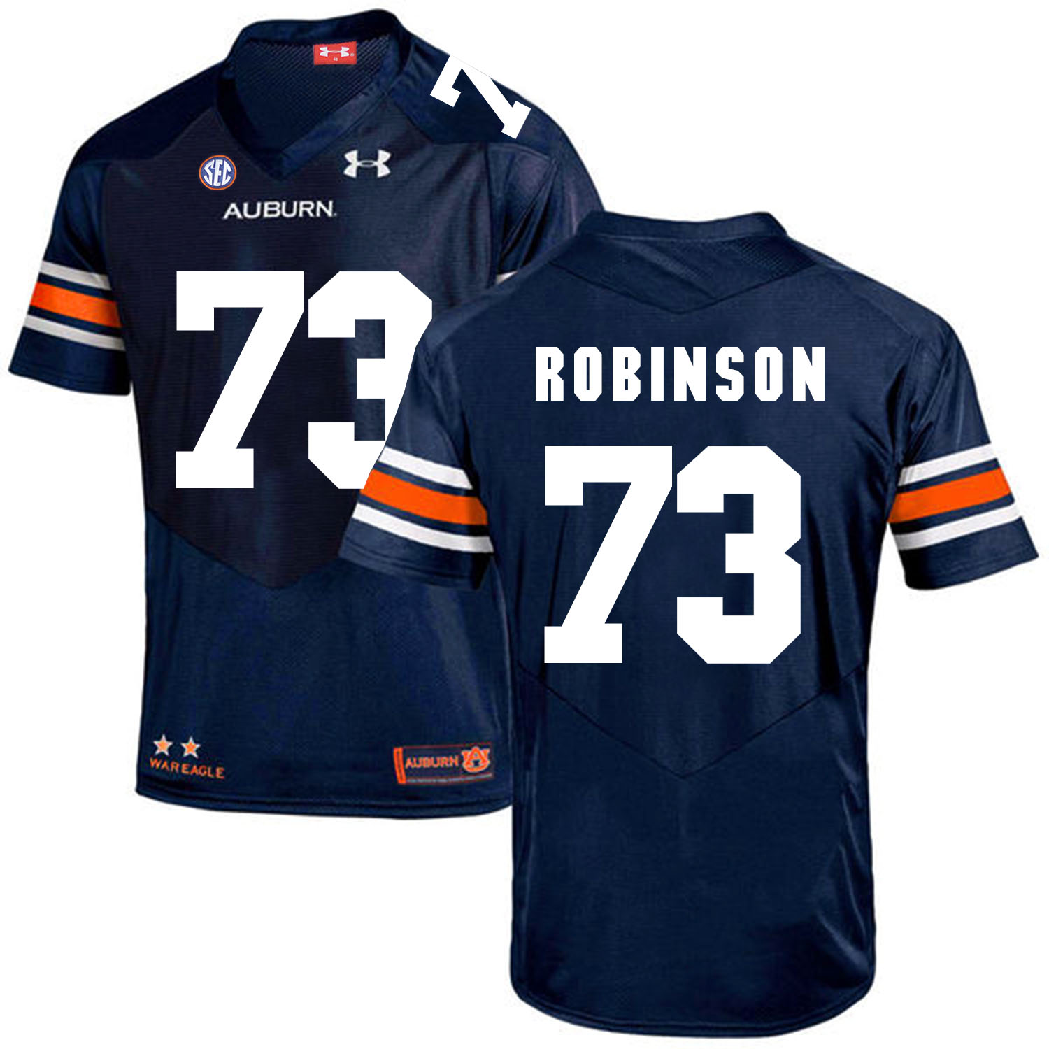 Auburn Tigers 73 Greg Robinson Navy College Football Jersey