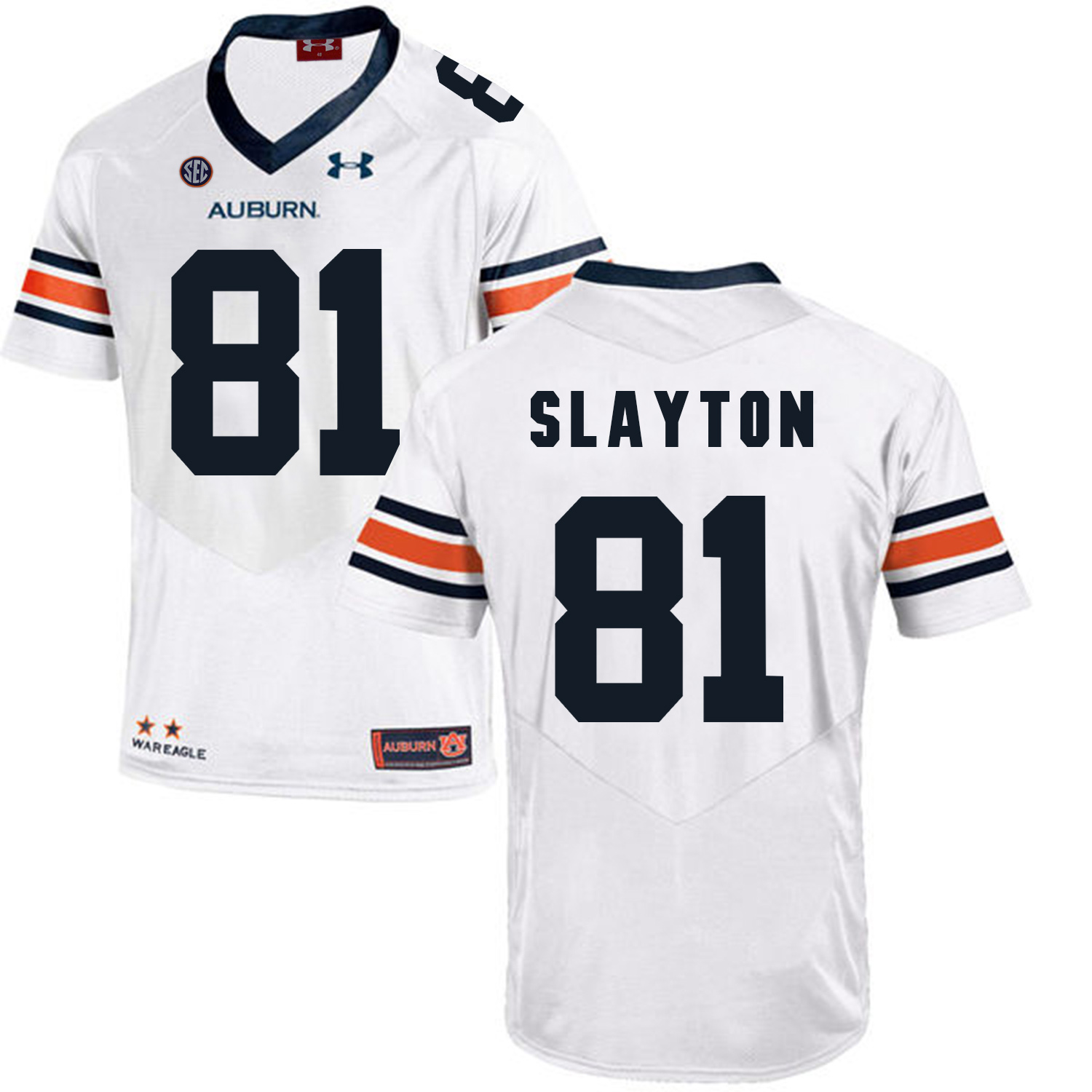 Auburn Tigers 81 Darius Slayton White College Football Jersey