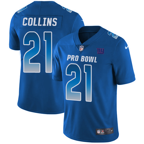 Nike NFC Giants 21 Landon Collins Royal 2018 Pro Bowl Game Jersey
