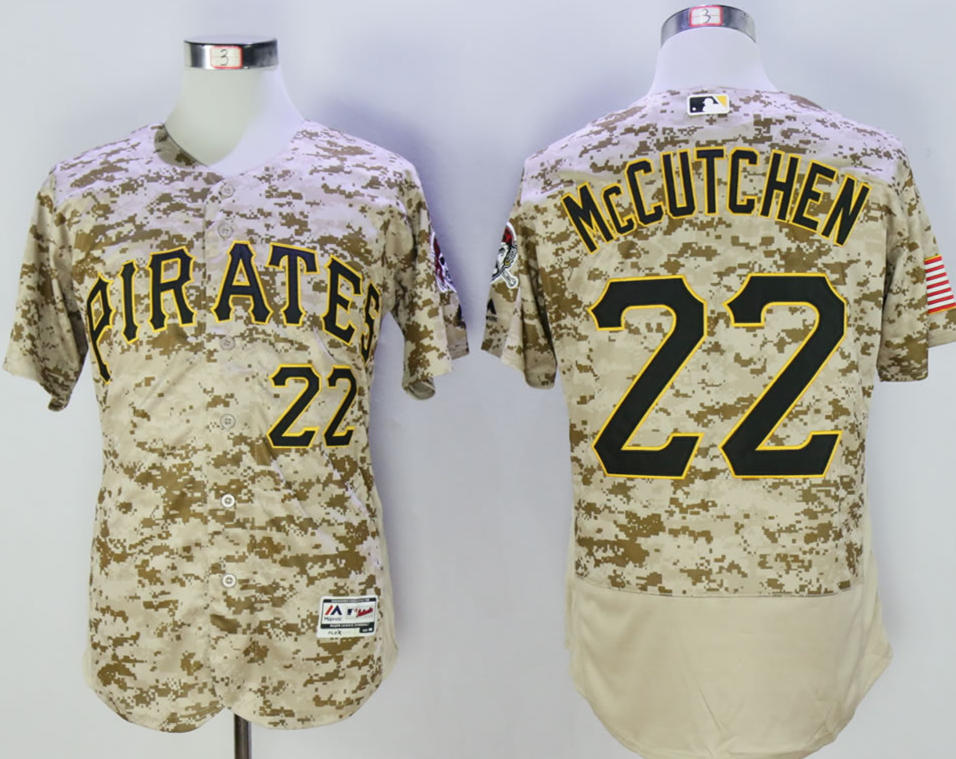 Pirates 22 Andrew McCutchen Camo Flexbase Jersey