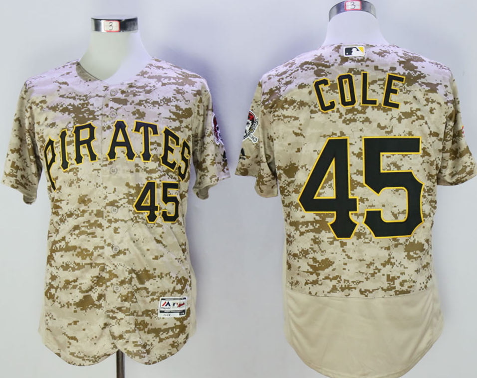 Pirates 45 Gerrit Cole Camo Flexbase Jersey