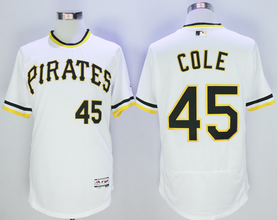 Pirates 45 Gerrit Cole White Flexbase Jersey