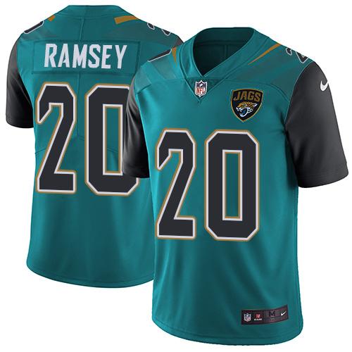 Nike Jaguars 20 Jalen Ramsey Teal Vapor Untouchable Limited Player Jersey