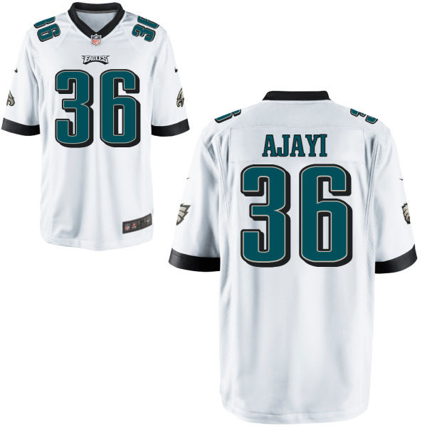 Nike Eagles 36 Jay Ajayi White Youth Game Jersey