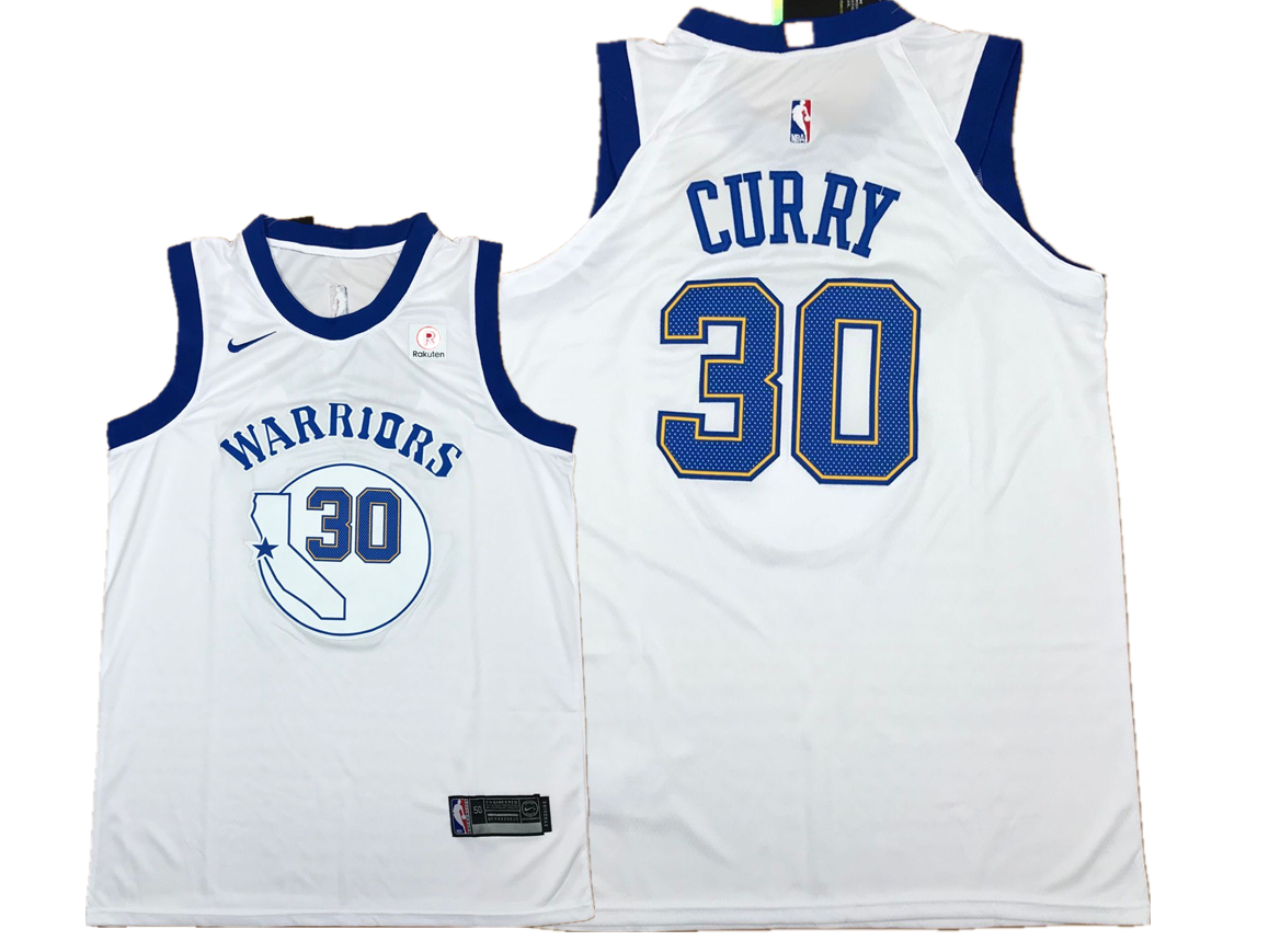 Warriors 30 Stephen Curry White Fashion Current Player Hardwood Classics Nike Authentic Jersey