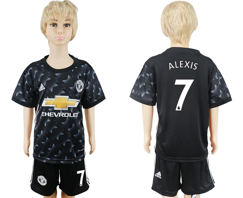 2017-18 Manchester United 7 ALEXIS Away Youth Soccer Jersey