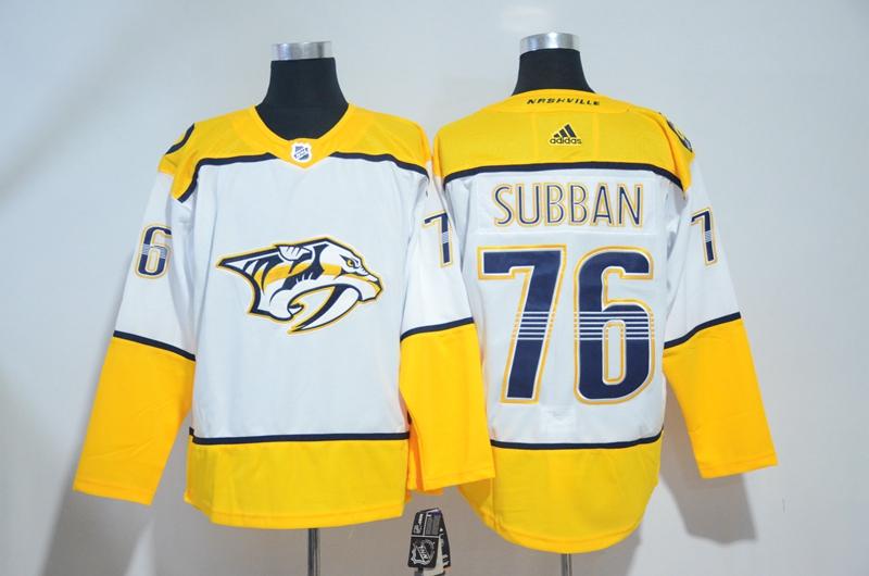 Predators 76 P.K. Subban White Adidas Jersey