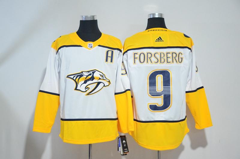 Predators 9 Filip Forsberg White Adidas Jersey
