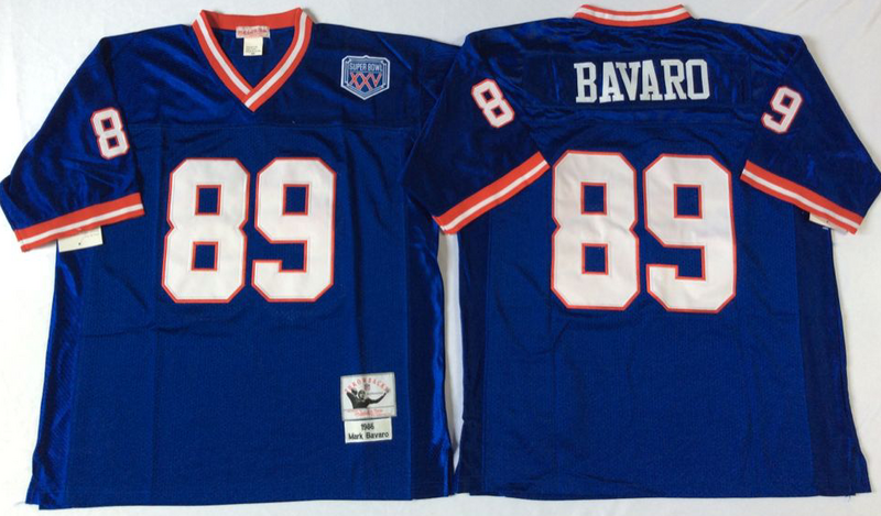 Giants 89 Mark Bavaro Blue M&N Throwback Jersey