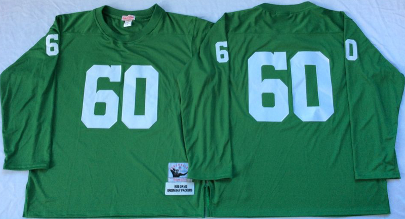 Packers 60 Rob Davis Green M&N Throwback Jersey