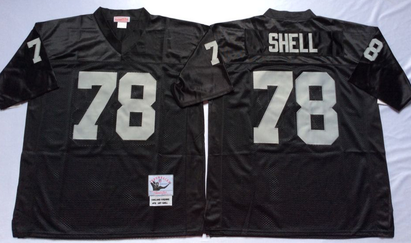 Raiders 78 Art Shell Black M&N Throwback Jersey