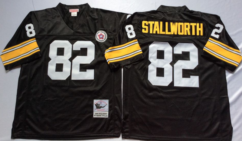 Steelers 82 John Stallworth Black M&N Throwback Jersey