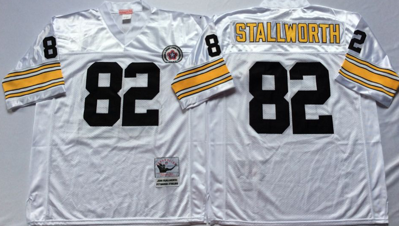 Steelers 82 John Stallworth White M&N Throwback Jersey
