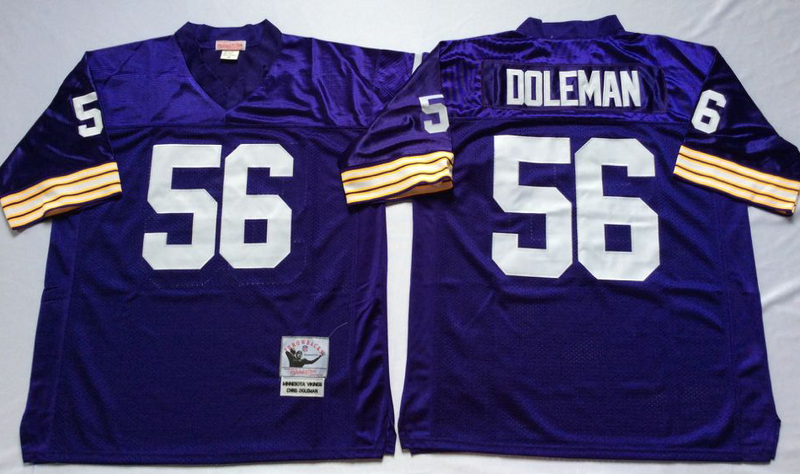 Vikings 56 Chris Doleman Purple M&N Throwback Jersey