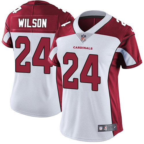 Nike Cardinals 24 Adrian Wilson White Women Vapor Untouchable Limited Jersey
