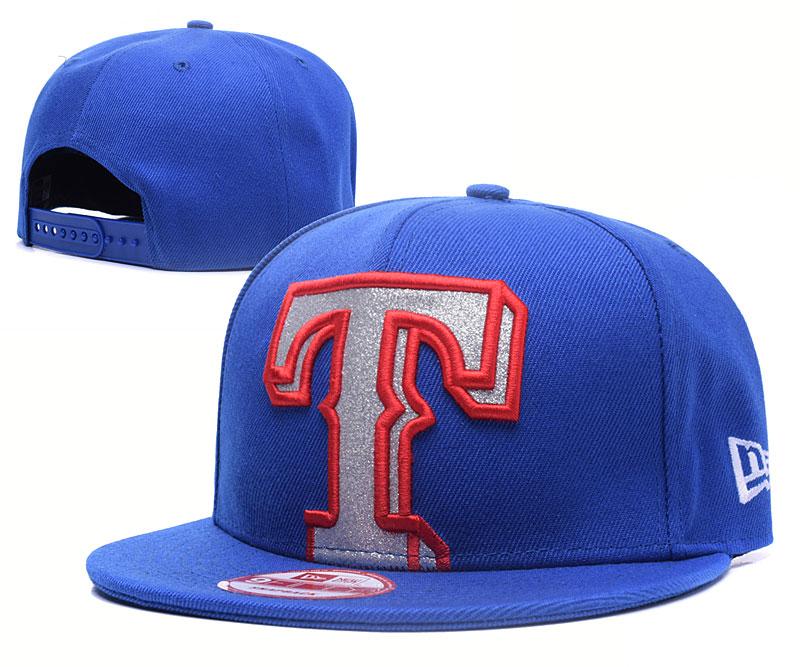 Texas Rangers Big Logo Royal Adjustable Hat YS