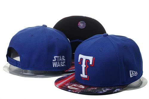 Texas Rangers Fresh Logo Star Wars Royal Adjustable Hat YS