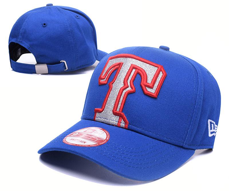 Texas Rangers Team Logo Royal Peaked Adjustable Hat YS