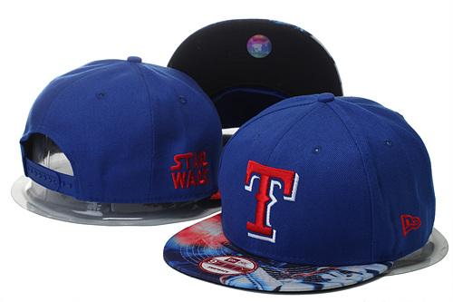 Texas Rangers Team Logo Star Wars Royal Adjustable Hat YS