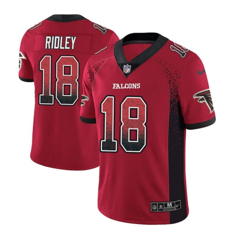 Nike Falcons 18 Calvin Ridley Red Drift Fashion Limited Jersey