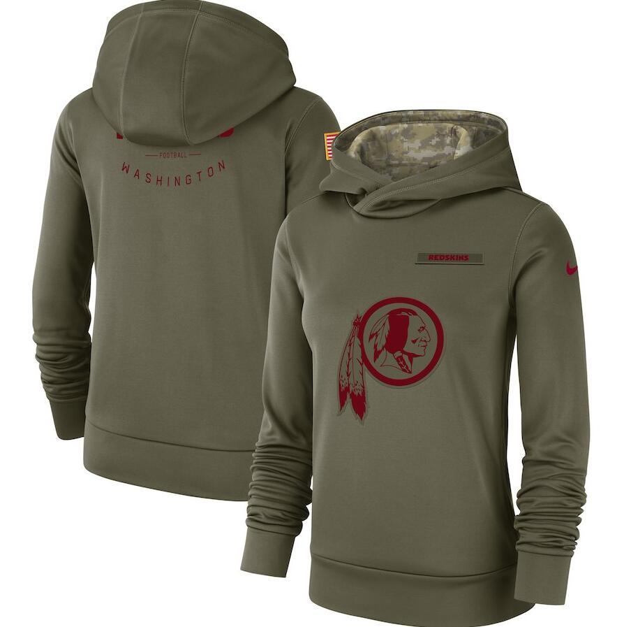 Washington Redskins Nike Women's Salute to Service Team Logo Performance Pullover Hoodie Olive