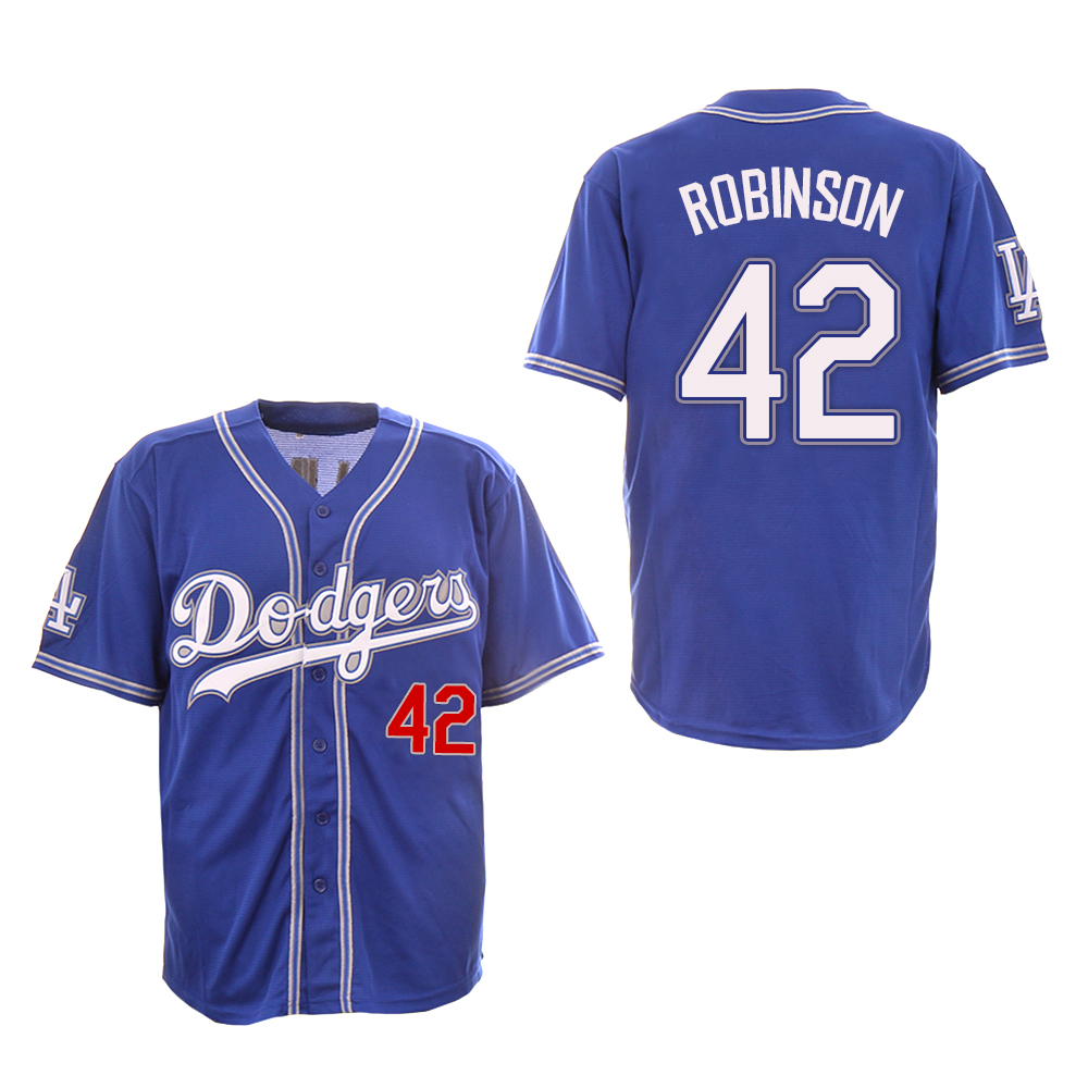 Dodgers 42 Jackie Robinson Royall New Design Jersey