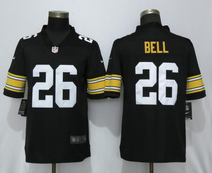 Nike Steelers 26 Le'Veon Bell Black Alternate Game Jersey