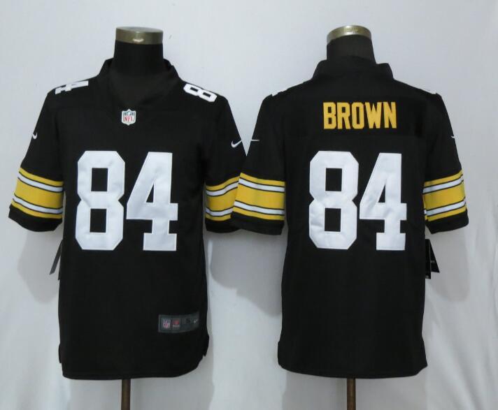 Nike Steelers 84 Antonio Brown Black Alternate Game Jersey