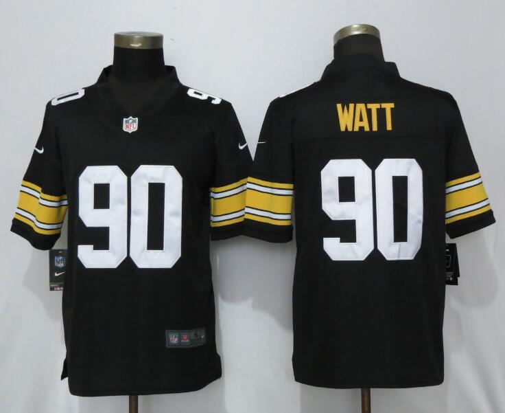 Nike Steelers 90 T.J. Watt Black Alternate Game Jersey