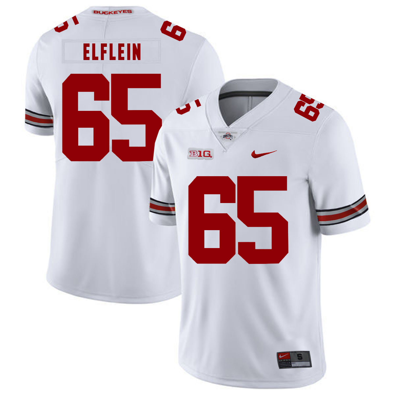 Ohio State Buckeyes 65 Pat Elflein White Nike College Football Jersey