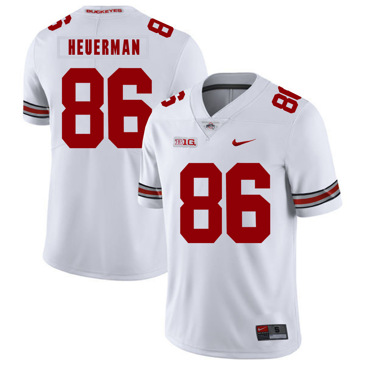 Ohio State Buckeyes 86 Jeff Heuerman White Nike College Football Jersey