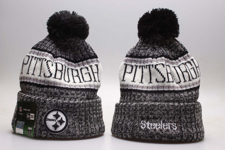 Steelers Fresh Logo Gray Sport Knit Hat YP