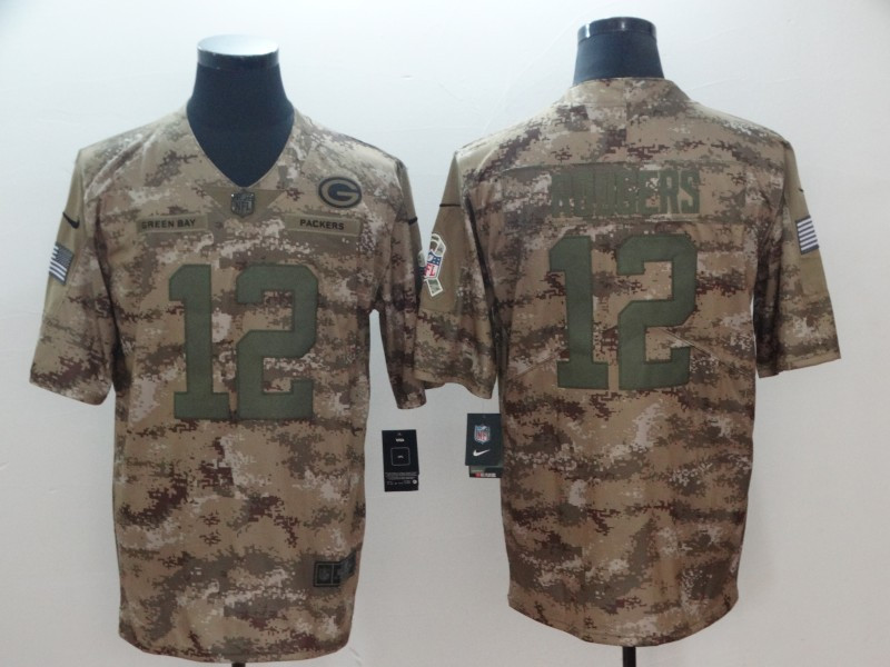 Nike Packers 12 Aaron Rodgers Camo Salute To Service Limited Jersey