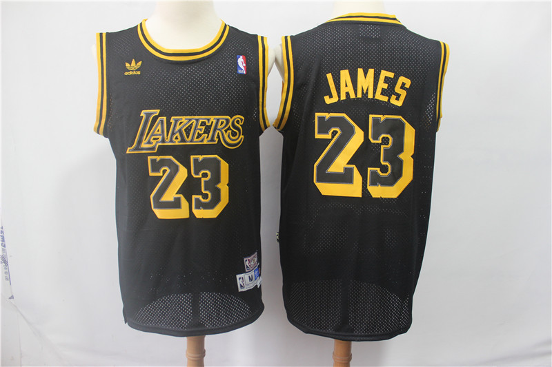 Lakers 23 Lebron James Black Hardwood Classics Jersey