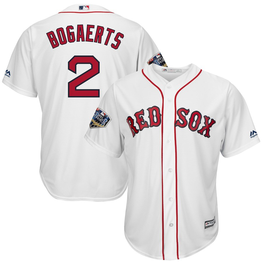 Red Sox 2 Xander Bogaerts White 2018 World Series Cool Base Player Jersey
