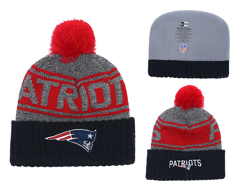 Patriots Team Logo Navy Cuffed Knit Hat With Pom YD